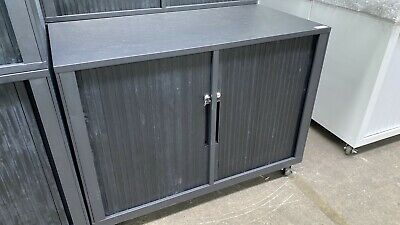1200mm Lockable Metal Office tambour cabinet Great For Office, Garage Storage