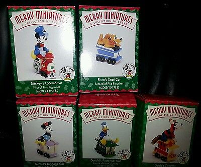 Hallmark 1998 Merry Miniatures MICKEY/'S LOCOMOTIVE Disney NIB