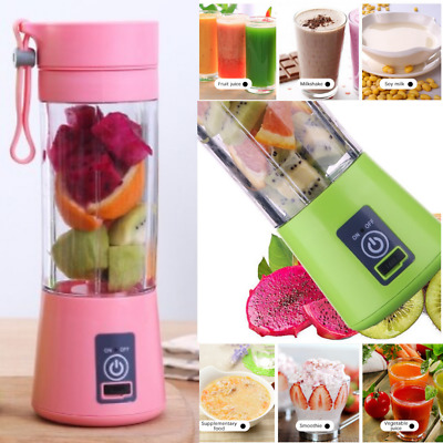 USB RECHARGEABLE JUICER FRUIT BLENDER SHAKER SMOOTHIE Mixer MAKER BOTTLE CUP