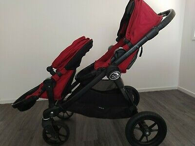 Baby Jogger City Select Double Stroller with Bassinet Kit RED