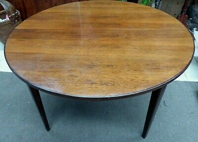 Vintage Mid Century Danish Rosewood Table By Omann Jun. - (Extension No Leaves)