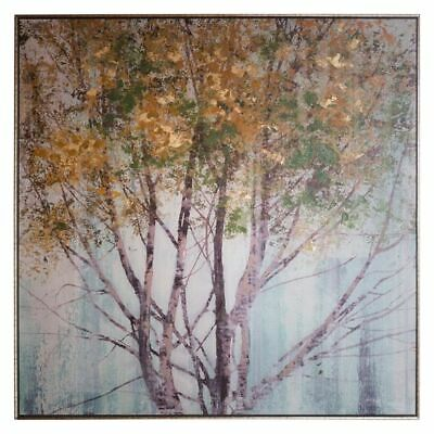 NEW Castle Road Interiors Autumn Gold Framed Canvas Print