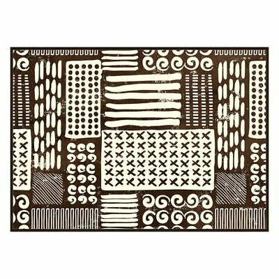 NEW Kitson Home Tribal Abstract Framed Canvas Print