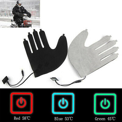 1X Five-finger Gloves USB Electric Heating Pads Three-speed Switch Heating IY