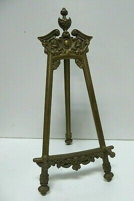 Vintage Ornate Cast Brass Folding Easle Book / Picture Stand