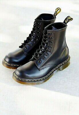 Dr Martens DMs Docs Boots Size 3 Airwair Original Black 1460 In Ex Condition