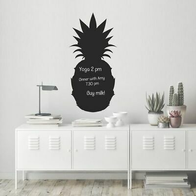 NEW Vinyl Design Chalkboard Pineapple Wall Decal