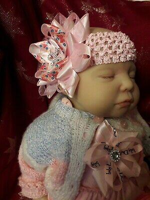 ROMANY BABY GIRL BIG PINK BUTTERFLY DIAMONTE princess BLING   PARTY HEADBAND