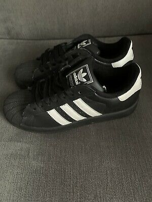 BNWOT Adidas Superstar Black Trainers Size 4 /37