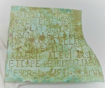 European Finds Ancient Roman Bronze Diploma Fragment With Inscriptions
