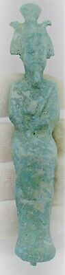 Circa 500 Bce Ancient Egyptian Bronze Seated Osiris Statuette