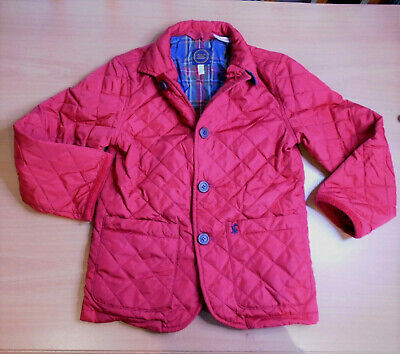 Joules Quilted Jacket Coat Red Boys or Girls Age 6 Years 116cm BNWOT   7/15
