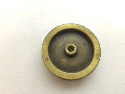 Vintage Longcase/Grandfather Clock Brass Pulley - Parts (Gfw2)