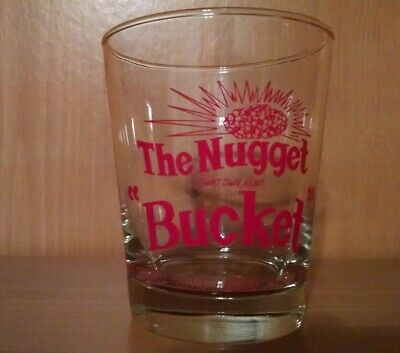 Nugget Casino - Cocktail / Drink Glass - Downtown Reno Nv - The Nugget Bucket