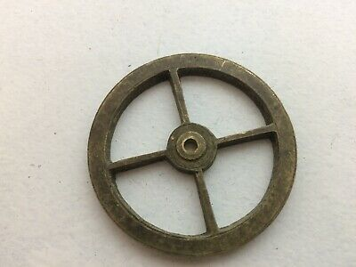 VINTAGE 4 SPOKE BRASS GUT WHEEL PULLEY - 52mm PARTS (VC2)
