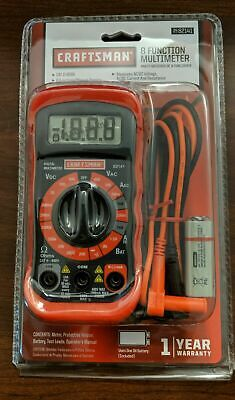 💎 NEW Craftsman 8 Function Multimeter - FREE SHIPPING 💎