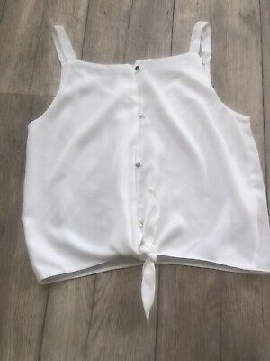 River Island Girls White Top Age 12 Years