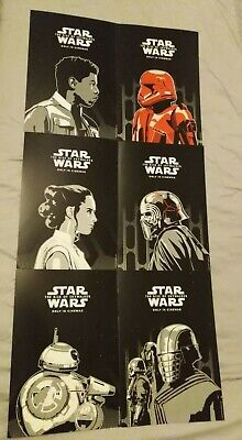 STAR WARS cinema posters a4 card promo the rise of the skywalker film lot odeon