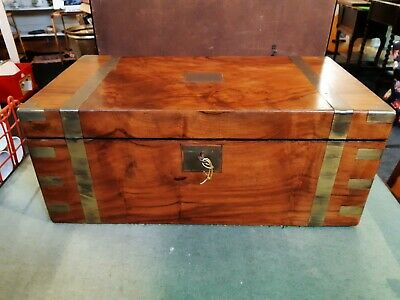 Large 19th/Early 20th Century Rosewood And Brass Writing Slope/Box
