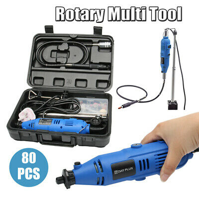 80Pcs Accessory Set Rotary Multi Tool Dremmel Drill Sand Grinder Polisher Kit