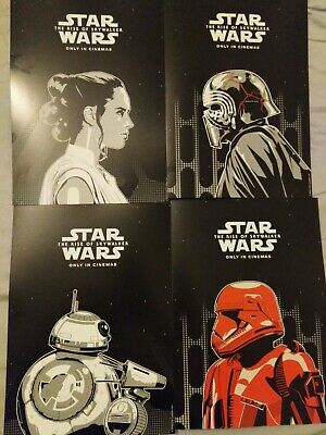 STAR WARS 4 cinema posters card promo the rise of the skywalker film lot odeon