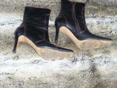 Beautiful Italian Leather Ankle Boots Size UK5 / EUR 38 VGC