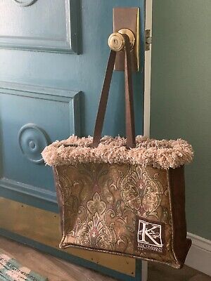 K&Co Tote Bag With Fringe Paisley Print