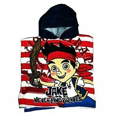 Jake and The Never Land Pirates Kids Hooded Cotton Bath Poncho New