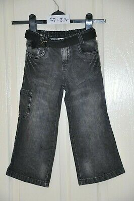 "LADYBIRD boy's black jeans, age 2-3yrs, height 98cm /38.5"", waist 50.5cm / 20"""