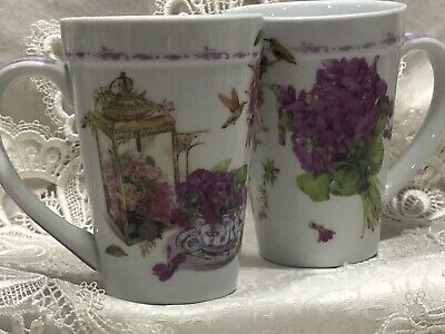 Two Beautiful Large Size 10 Ounce Mugs Close Out Sale!
