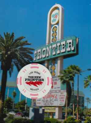 The New Frontier Hotel Casino - $1 Gaming Chip - Las Vegas Nevada - Obsolete