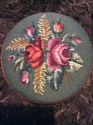Vintage / Retro Tapestry Footstool, Foot Rest.