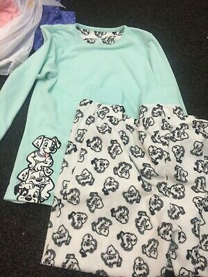 lot girls nightwear 2 pjs, one all in one unicorn,1 disney hoody 2 tops fit  8/9