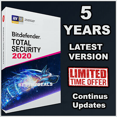 Bitdefender Total Security 2020 Version - 5 Years Activation - FAST Download