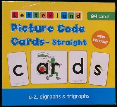 1st - 2nd Grade Letterland Picture Code Cards - straight (94 cards) NEW EDITION
