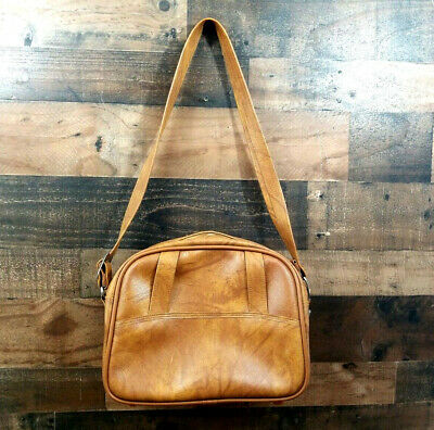 Vintage American Luggage Tourister Leather Bag with Strap No Key