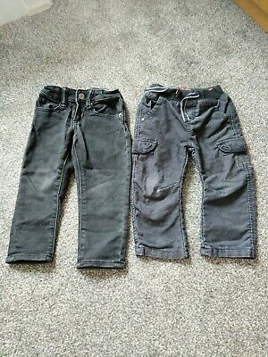 2 Pair Black Boys Jeans/Trousers Age 2 Gap And Catimini
