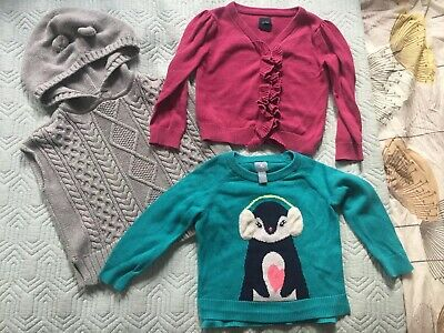 Lovely Bundle Of Girls X3 Gap Cardigans And Jumpers Age 2 Years