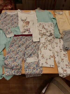 Age 13-14 Marks And Spencer M&S Girls Pyjamas Bundle of 4 PJs mix and match set