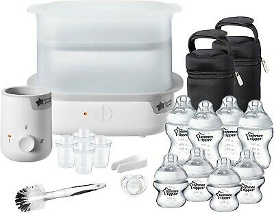 Tommee Tippee Electric Steam Sterilizer Baby Bottle Complete Feeding Set White