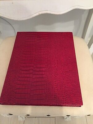Smythson of Bond Street The Portobello red leather bound and silk lined book new
