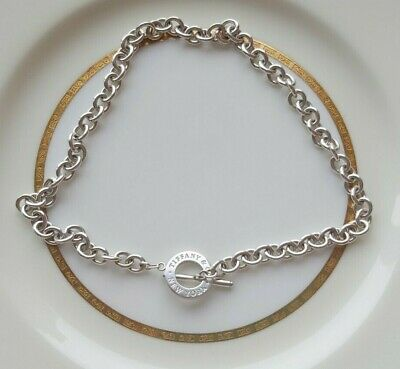 Authentic Tiffany & Co. Sterling Silver Toggle Choker Necklace