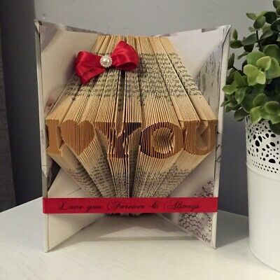 📖 VALENTINES DAY BOOKART. I Love You Wedding Anniversary Special Occasion