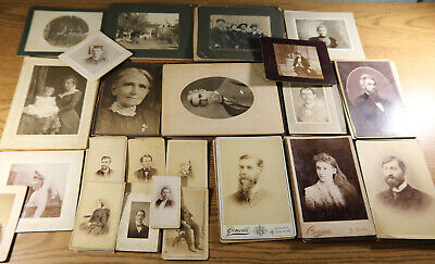 CDV Cabinet Photo Lot of 50 - Webster Ewing Family Kirkwood St Louis Missouri MO