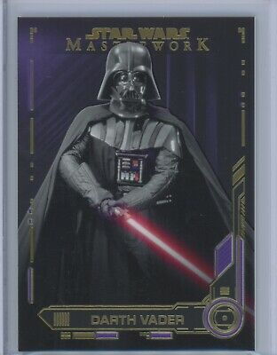 2019 Topps Star Wars Masterwork Darth Vader PURPLE PARALLEL #39/50