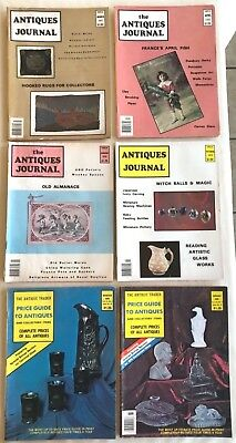Lot Of 6 Antique & Collectible Magazines The Antique Trader & Antiques Journal