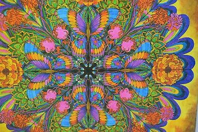 Vintage Psychedelic 3 Ring Binder, Flower Power, Hippie, 1960s or 70s