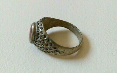Extremely Rare Ancient Roman Ring Silver Color Metal Artifact Amazing
