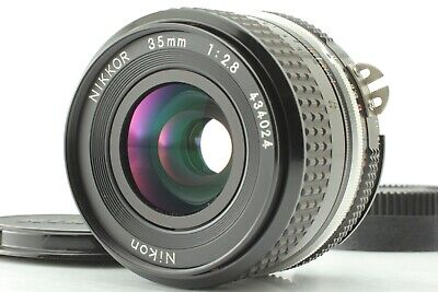 NIKON Ai NIKKOR 35mm F/2.8 MF WIDE ANGLE LENS w/ CAPS FROM JAPAN