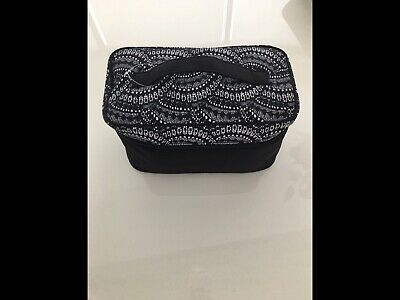 NWT $75 Victoria's Secret Black & White Bra Panty Lingerie Travel Case Bag-Pouch